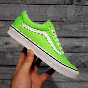 Vans OLD SKOOL Neon Green Men's Skate Shoes 9